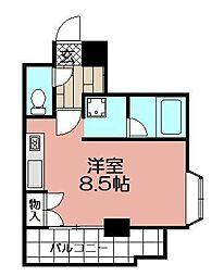 博多祇園ビル[503号室]の間取り