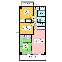 カーサ薬師寺[4階]の間取り