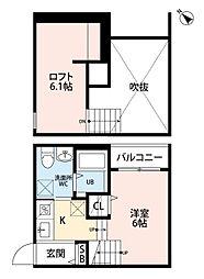 ソアレ博多[2階]の間取り