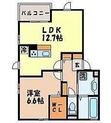 長崎県長崎市岩見町の賃貸アパートの間取り