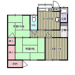 [一戸建] 愛媛県新居浜市沢津町3丁目 の賃貸【/】の間取り