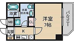 クレアートアドバンス北大阪[4階]の間取り