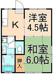 ジュネハイツ(西綾瀬3丁目)[102号室]の間取り