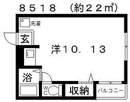 サンシャイン藤井寺[201号室号室]の間取り