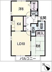 ティアレ D棟[2階]の間取り