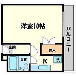 第2山本ビル[3階]の間取り