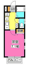埼玉県狭山市富士見1の賃貸アパートの間取り