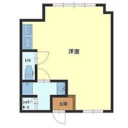 ASAHIハウス[1号室]の間取り