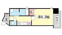ピアグレース神戸[7階]の間取り