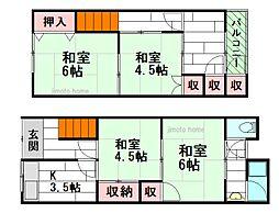 [テラスハウス] 大阪府豊中市庄内栄町3丁目 の賃貸【/】の間取り