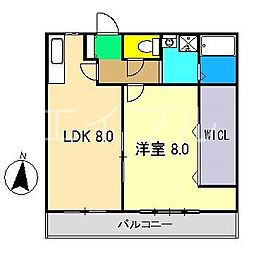 コンフォート弥右衛門[3階]の間取り