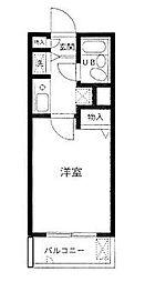 東京都北区栄町の賃貸マンションの間取り