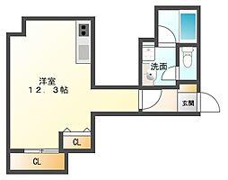 AXIS平尾2番館[2階]の間取り