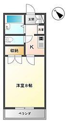 埼玉県さいたま市中央区鈴谷9丁目の賃貸マンションの間取り