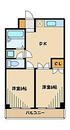 ユニテ柿生[2階]の間取り