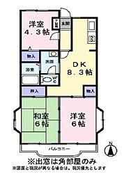メゾンドソフィア[1階]の間取り