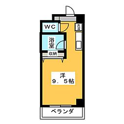 Espoir板屋[4階]の間取り