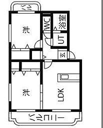 ユーミーリオプレットI[1階]の間取り