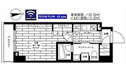 都営大江戸線 新御徒町駅 徒歩5分の賃貸マンション 3階1Kの間取り