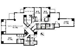 青山第一マンションズ[21階]の間取り