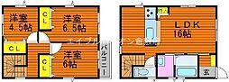 [一戸建] 岡山県倉敷市水江丁目なし の賃貸【/】の間取り