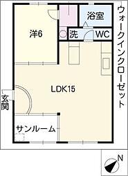 ファミール井ヶ谷A棟[2階]の間取り