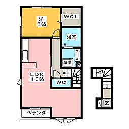 プレジール B棟[2階]の間取り
