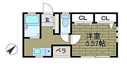 東京都町田市森野2の賃貸アパートの間取り