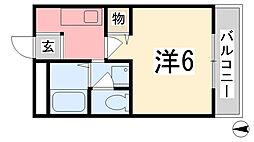 兵庫県姫路市今宿の賃貸マンションの間取り