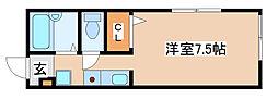 兵庫県三木市志染町広野1丁目の賃貸アパートの間取り