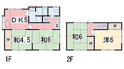 [一戸建] 兵庫県姫路市御立西 の賃貸【/】の間取り