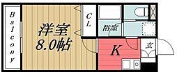 千葉県千葉市稲毛区作草部町の賃貸マンションの間取り