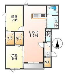 仮)北31条西5丁目新築AP[3階]の間取り