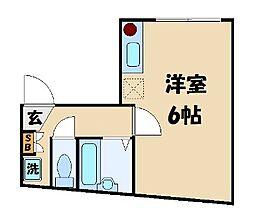 東京都葛飾区金町4の賃貸アパートの間取り