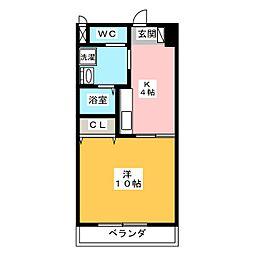 ファミーユ檀[3階]の間取り