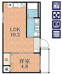 F maison LORE I番館[3階]の間取り