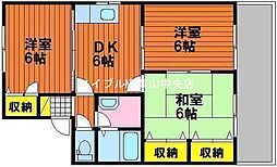 岡山県岡山市中区中井丁目なしの賃貸アパートの間取り