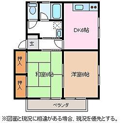 コーポナカジマE棟[2階]の間取り
