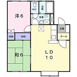 クレストール6&4[1階]の間取り