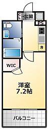 アービングNeo平野駅前 9階1Kの間取り