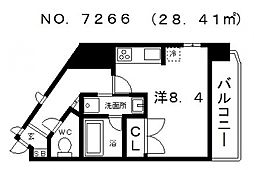 サザンコート[604号室号室]の間取り