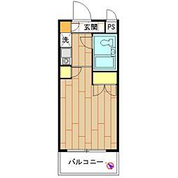 モナークマンション海老名壱番館[0504号室]の間取り