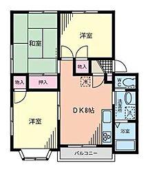 神奈川県横浜市都筑区早渕2丁目の賃貸アパートの間取り