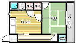 大阪府茨木市大住町の賃貸アパートの間取り