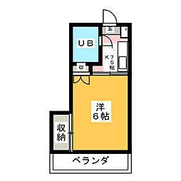 第三五十嵐マンション[3階]の間取り