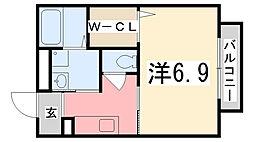 シャーメゾンTao[101号室]の間取り
