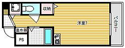 グランメール高井田[5階]の間取り