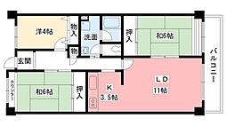 今津浜パークタウン12号(UR)[603号室]の間取り