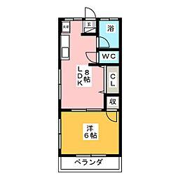 都木ハイツB[2階]の間取り