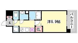 アドバンス神戸プリンスパーク[701号室]の間取り
